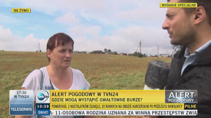Mieszkanka wsi nieopodal Suszka mówi o wczorajszej burzy