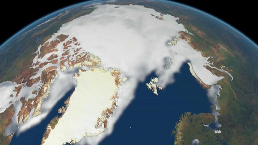 Poziom Arktyki rekordowo niski także jesienią (ESA)