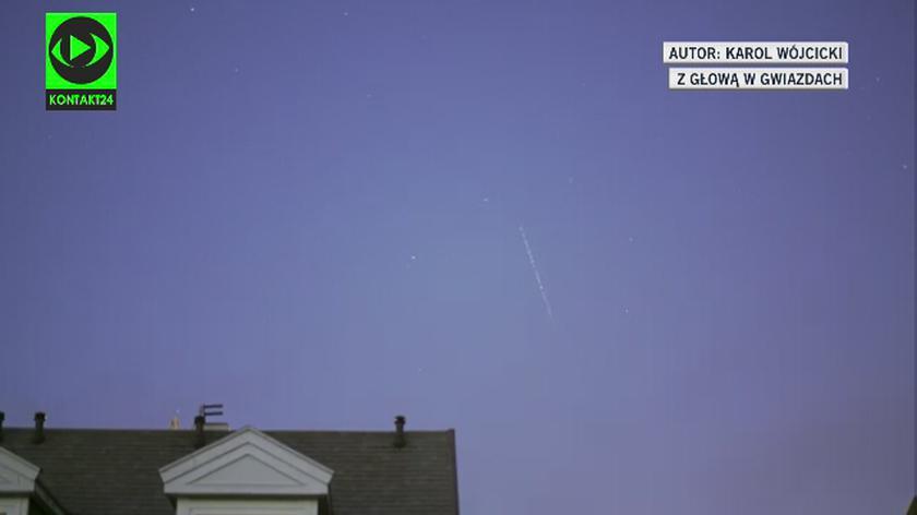 Przelot satelitów Starlink w czwartek nad Polską