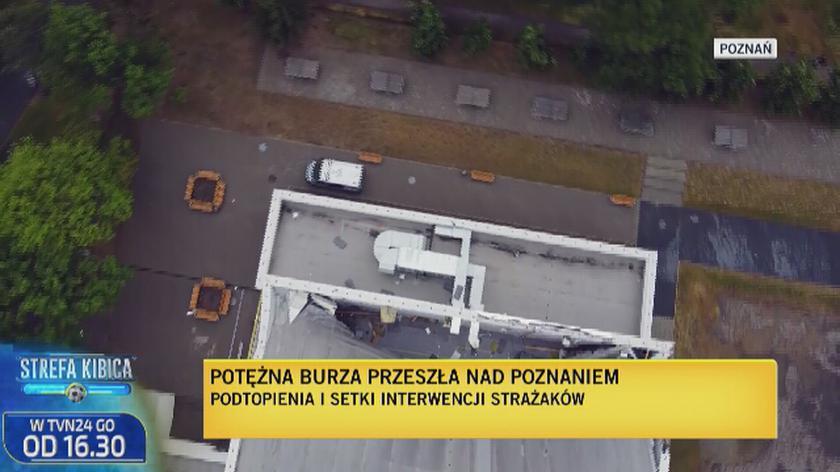 Zalana hala sportowa w Poznaniu