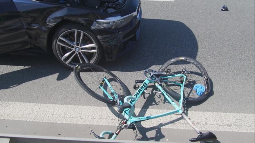 Potrącenie rowerzysty na Modlińskiej