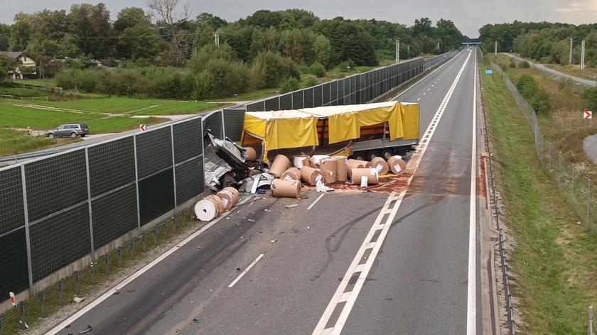 Wypadek na obwodnicy Żyrardowa