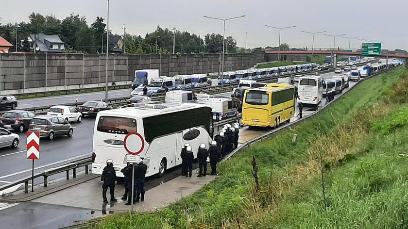 Policyjne kontrole na trasie S8