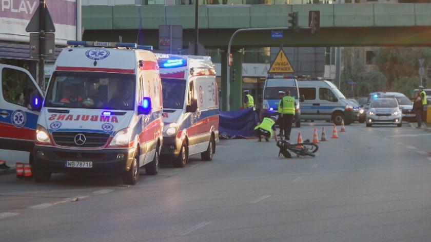 Rowerzystka zginęła na rondzie Unii Europejskiej