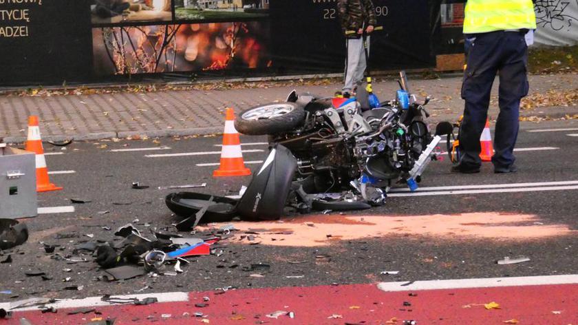 Auto zderzyło się z motoambulansem na Radzymińskiej