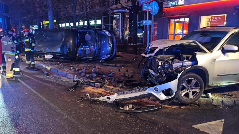 Po zderzeniu kierowca bmw uciekł z miejsca kolizji