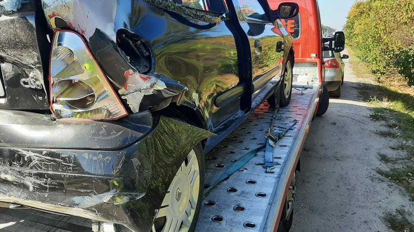Trzy samochody osobowe zderzyły się na Bielanach