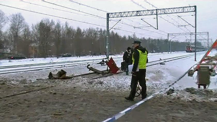 O wypadku opowiada reporter TVN Warszawa Leszek Dawidowicz