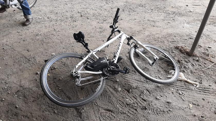 Potrącenie rowerzysty pod Trasą Siekierkowską