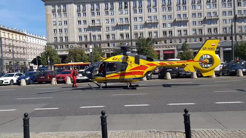 Śmigłowiec LPR lądował w ścisłym centrum Warszawy