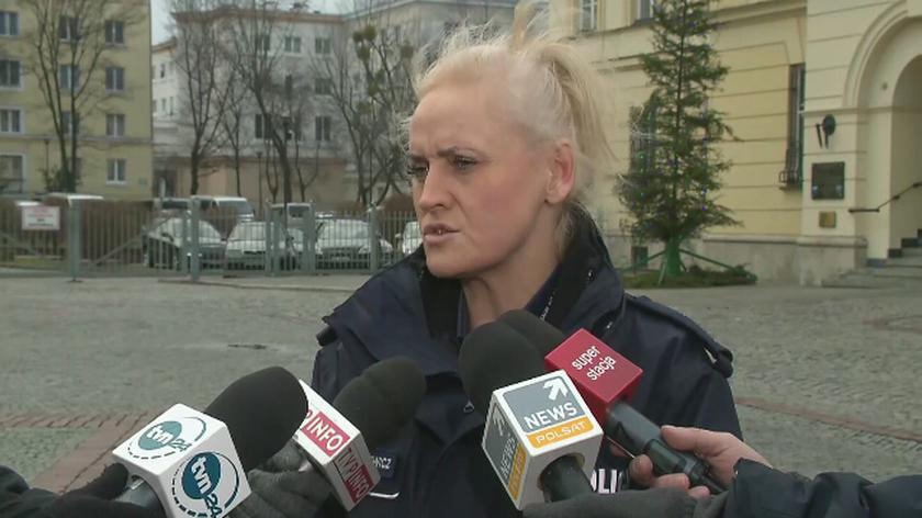 Policja o bójce