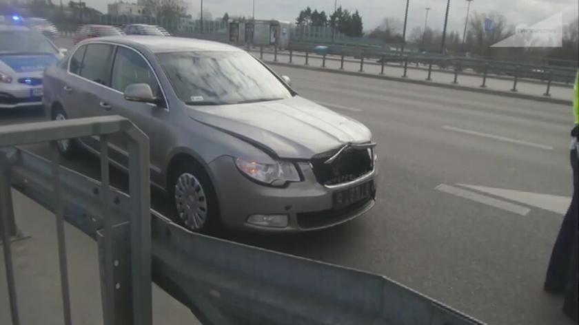 Kolizja z udziałem auta SOP