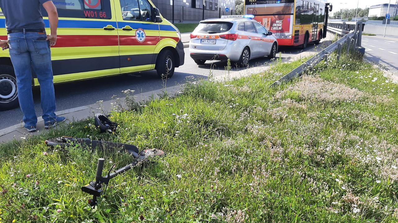 Ursus: autobus miejski zderzył się z hulajnogą