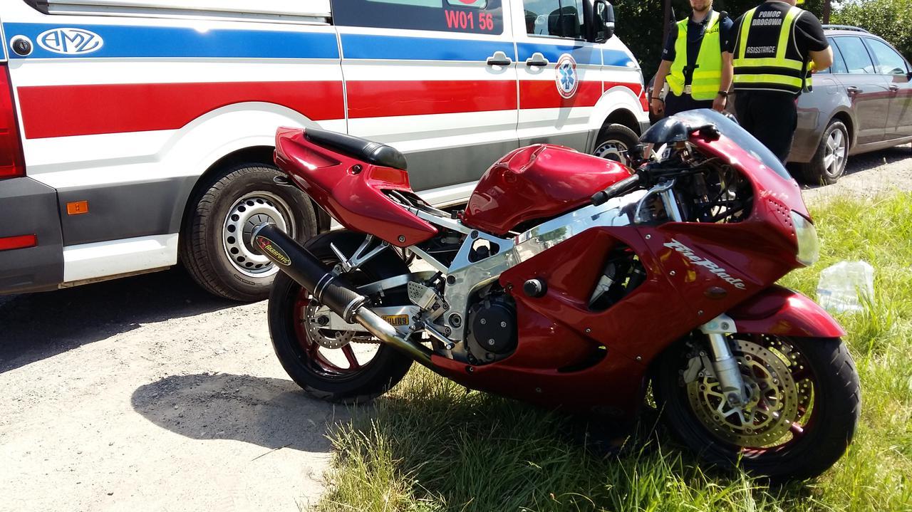 Wypadek z udziałem motocyklisty na Targówku