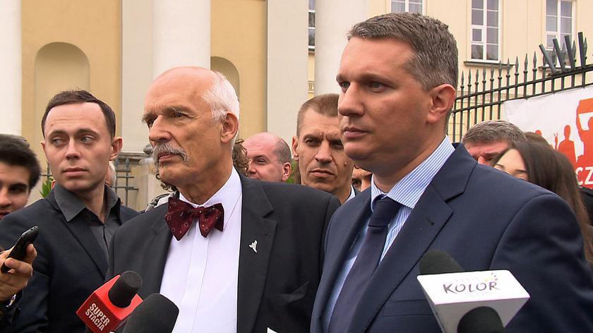 Konferencja Przemysława Wiplera na placu Bankowym