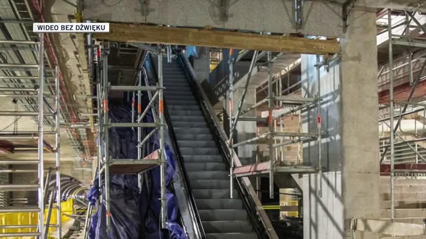 Postęp prac na budowie stacji Bemowo