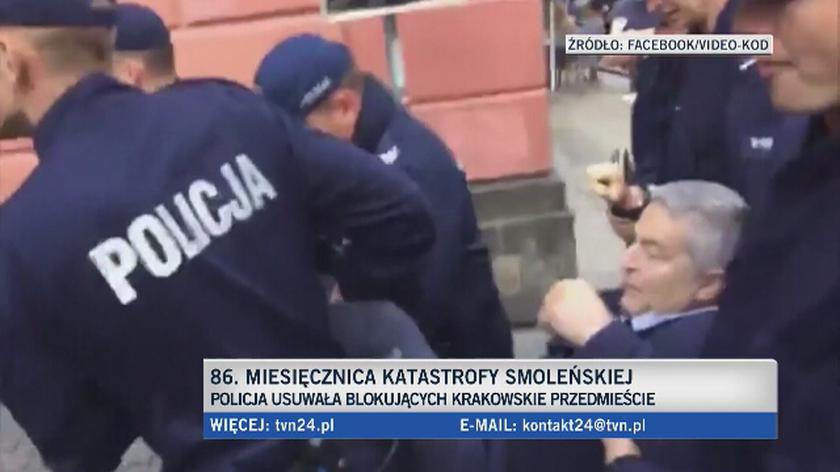 Usuwany siłą Władysław Frasyniuk