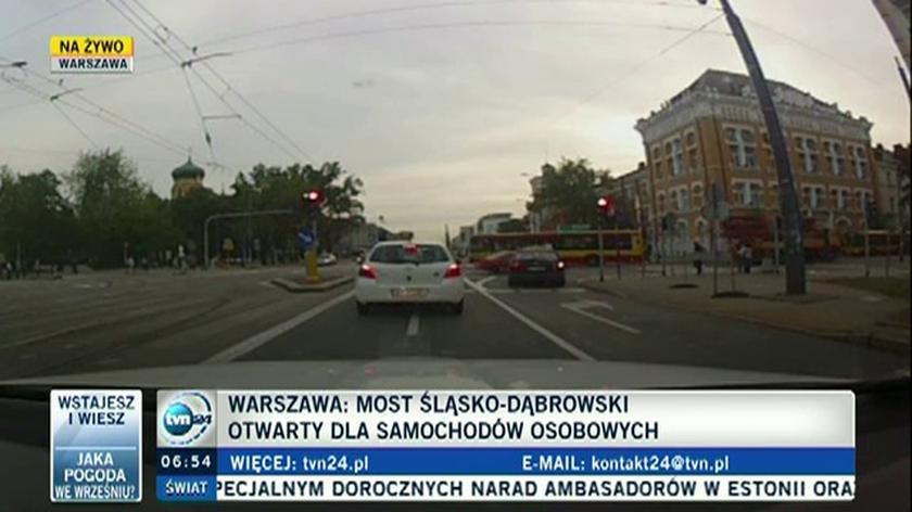Przejazd mostem Śląsko-Dąbrowskim