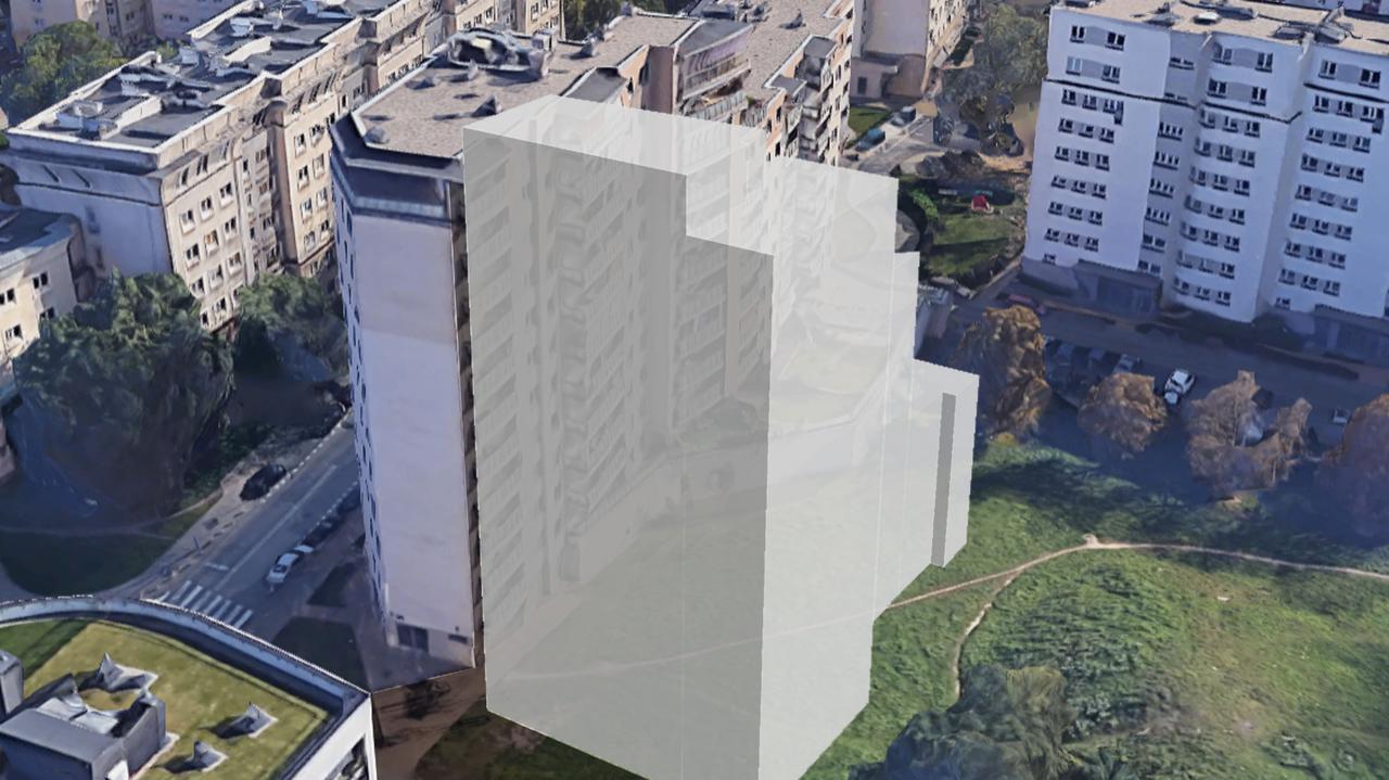 Cztery metry od bloku może wyrosnąć apartamentowiec.