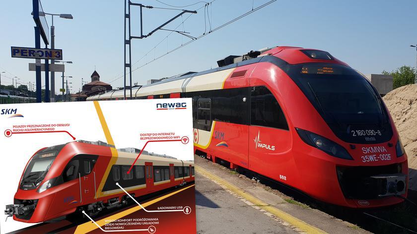 Wjazd pociągu na stację Płocka