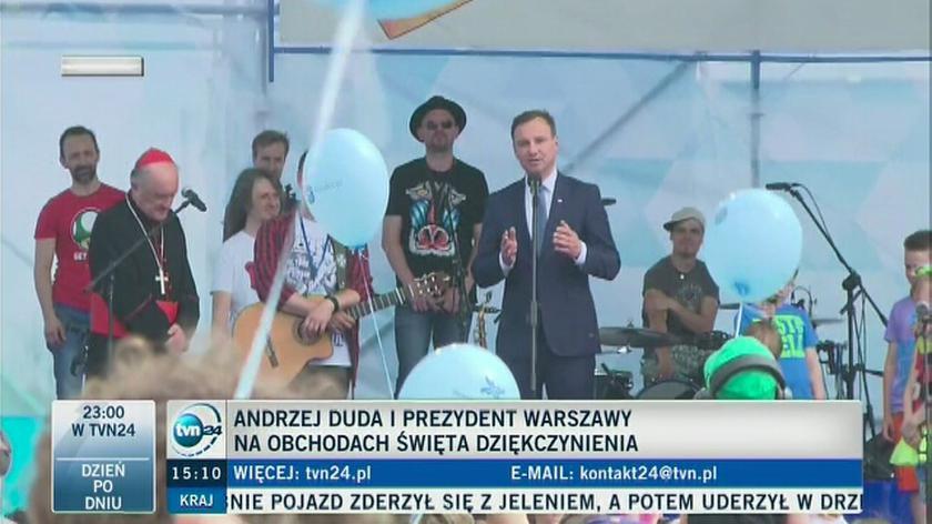 Andrzej Duda zaśpiewał z dziećmi