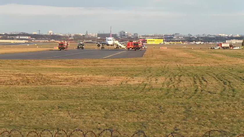 Samolot linii Turkish Airlines na lotnisku Chopina