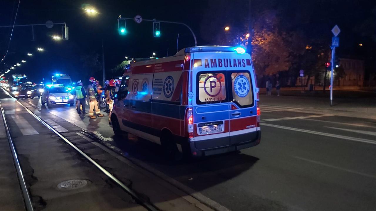 Wypadek na przejściu w alei Waszyngtona