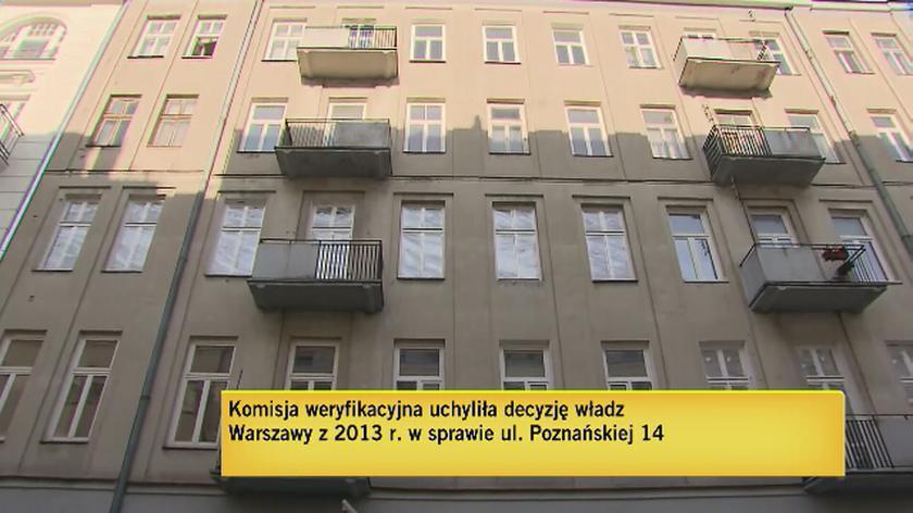 Komisja uchyliła decyzję reprywatyzacyjną w sprawie Poznańskiej 14